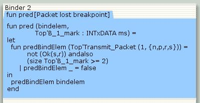 Breakpoint predicate function