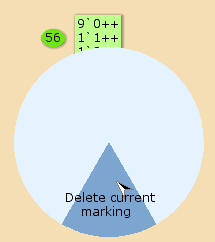 Delete current marking