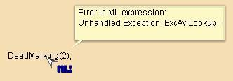 An ExcAvlLookup exception is raised