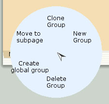 Group tab marking menus