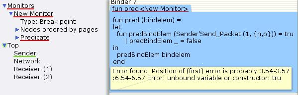 Syntax error in monitoring function