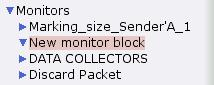 Newly created monitor block