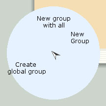 None group marking menu