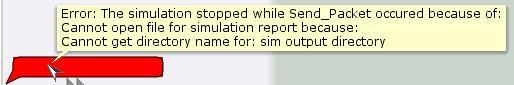 Error creating simulation report