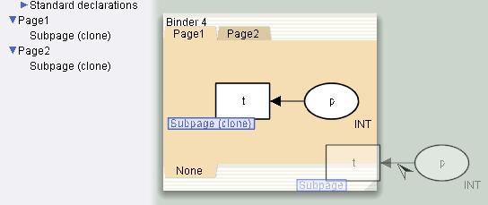 Independent copies of subpages in new net from clone