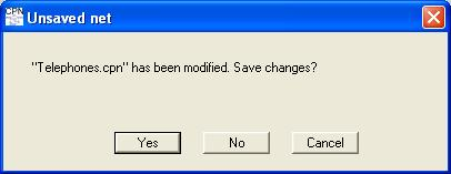 Dialog box warning about unsaved changes
