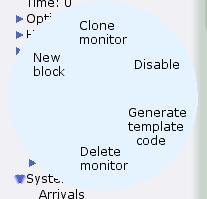 Monitor name marking menu
