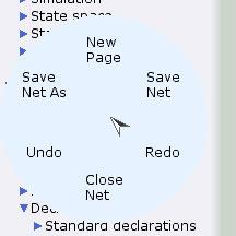 Net marking menu