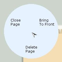 Page tab marking menus