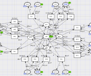 Reenterable Model of Rectangular Communication Grid